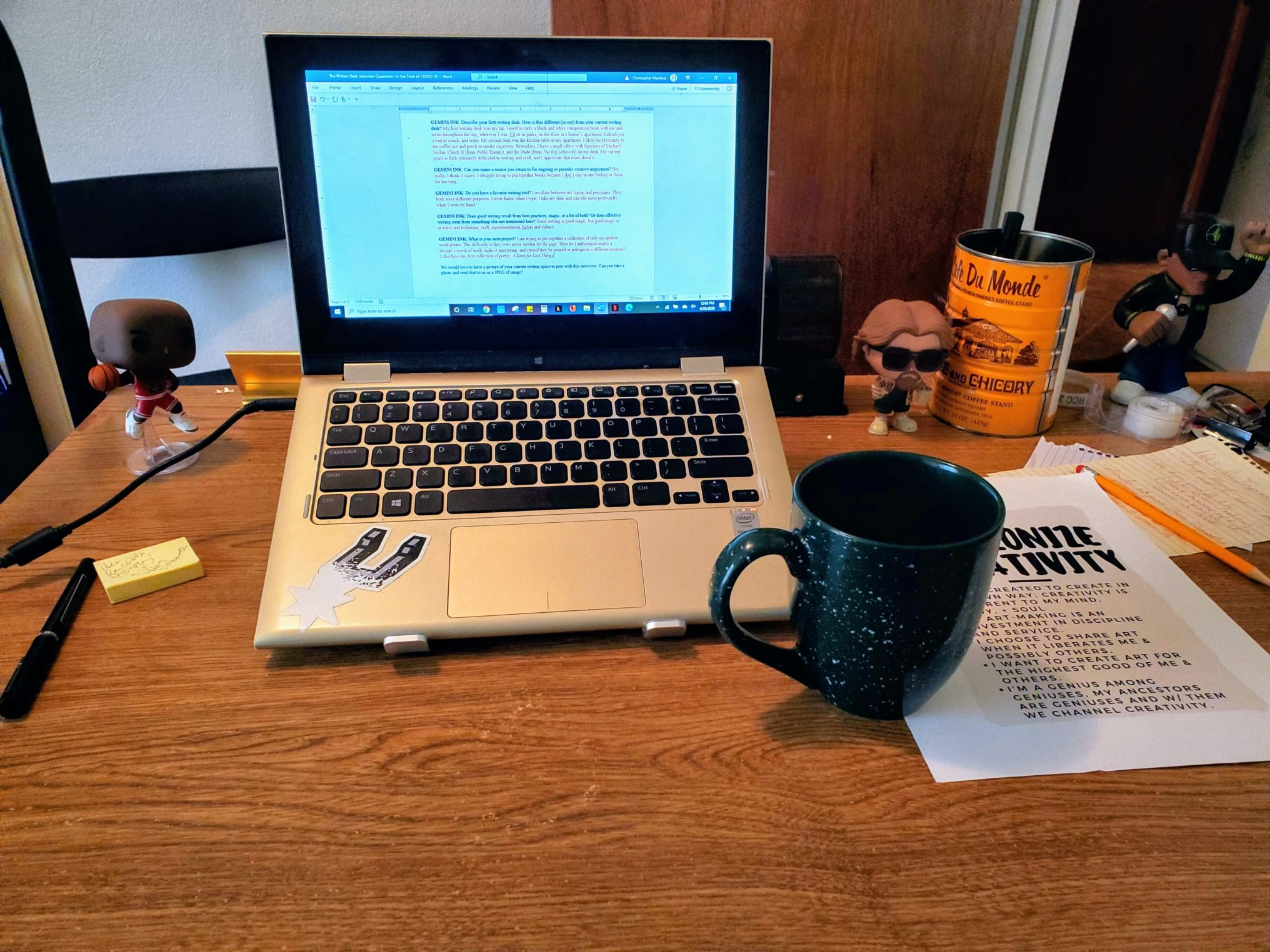 "The Writer's Desk with C.L. ""Rooster"" Martinez"