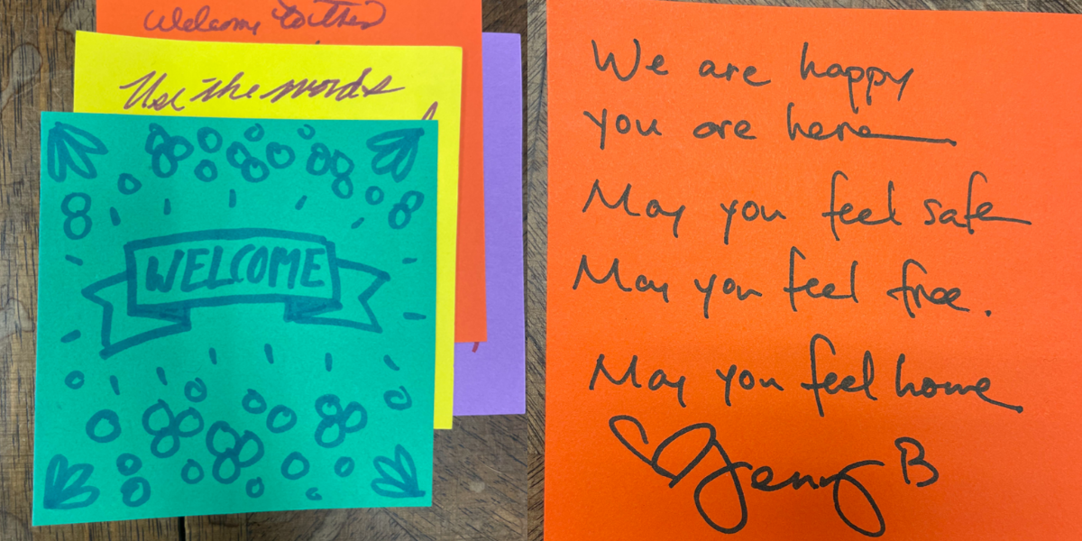 """An update on our """"Boxes of Welcome"""" notes project!"""